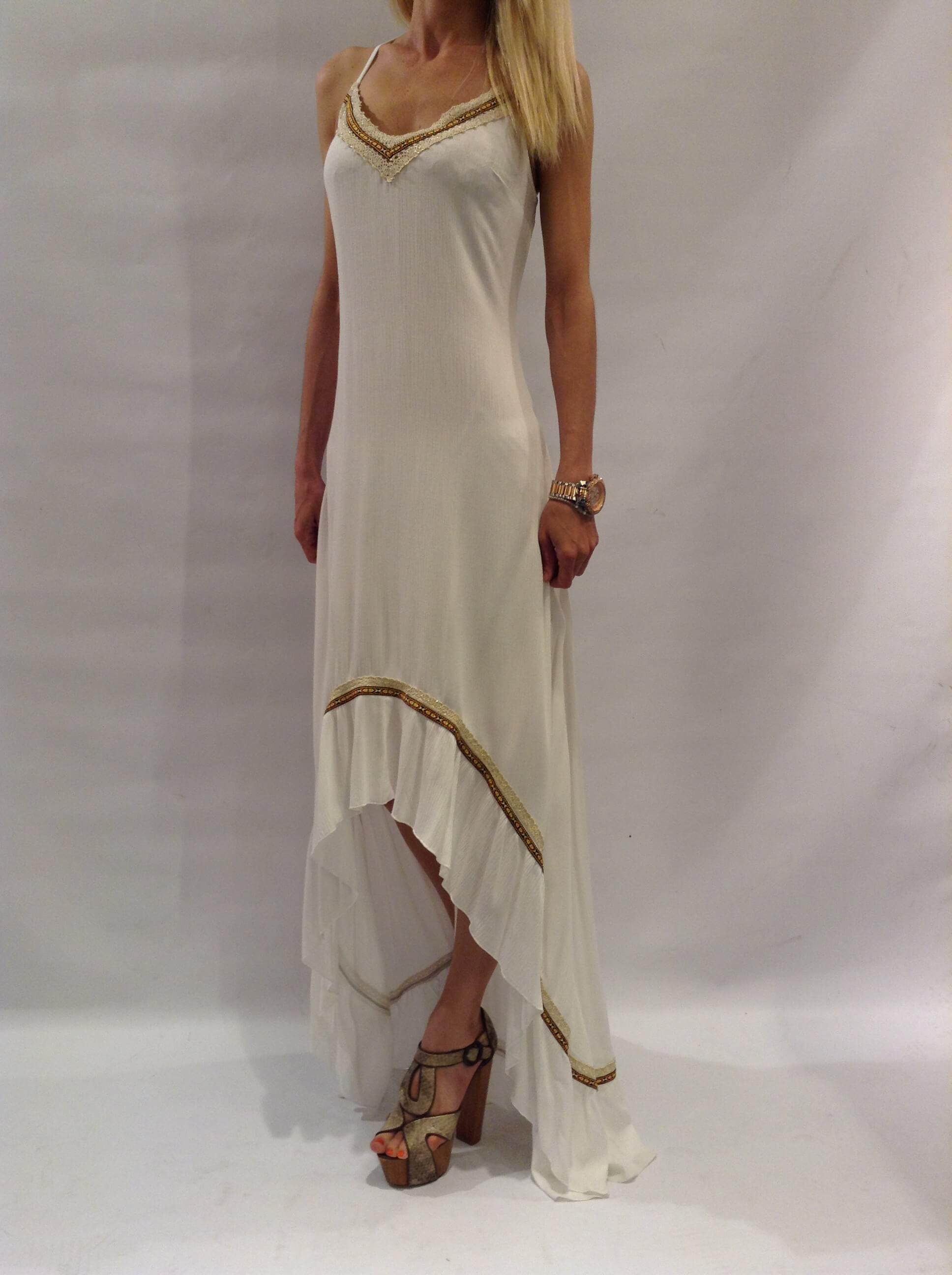 Women's asymmetrical strappy dress