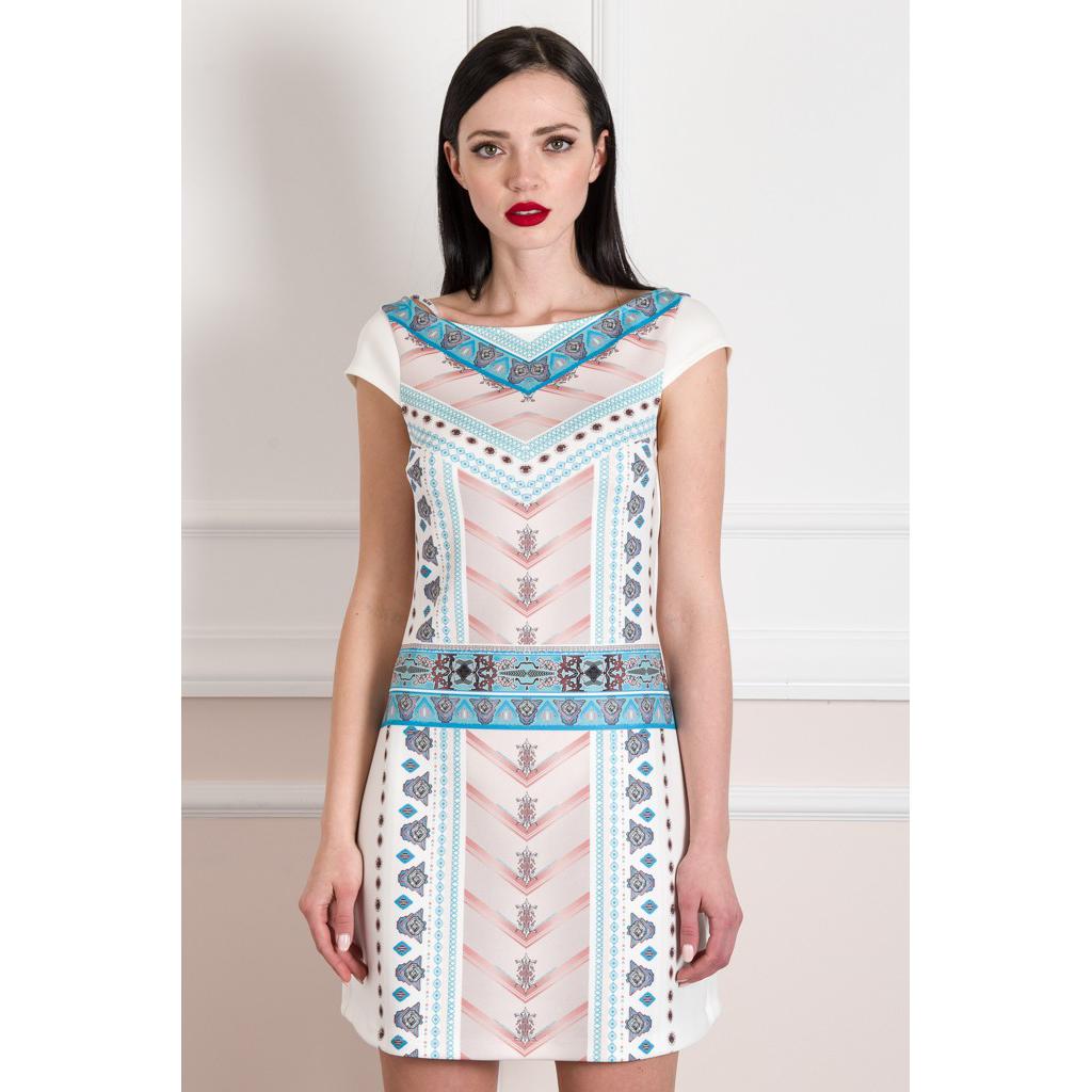 Mini φόρεμα με ψηφιακό τύπωμα μπροστά
