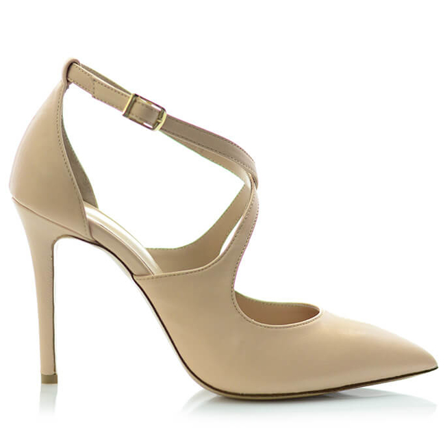 a016390bdfbb High heels with ankle strap nude