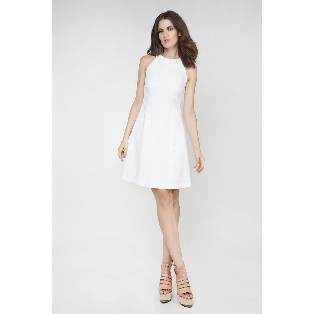 89c836db22c5 Λευκό mini φόρεμα σε Α γραμμή