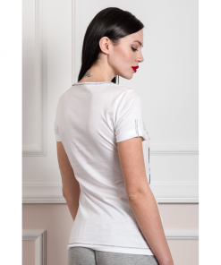 Casual t-shirt με στρογγυλή λαιμόκοψη