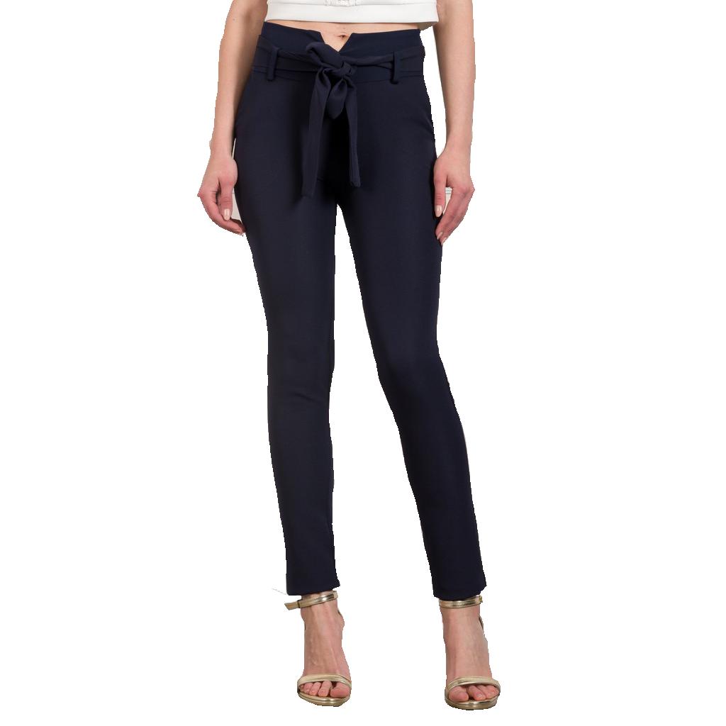 Εφαρμοστό παντελόνι με ζώνη