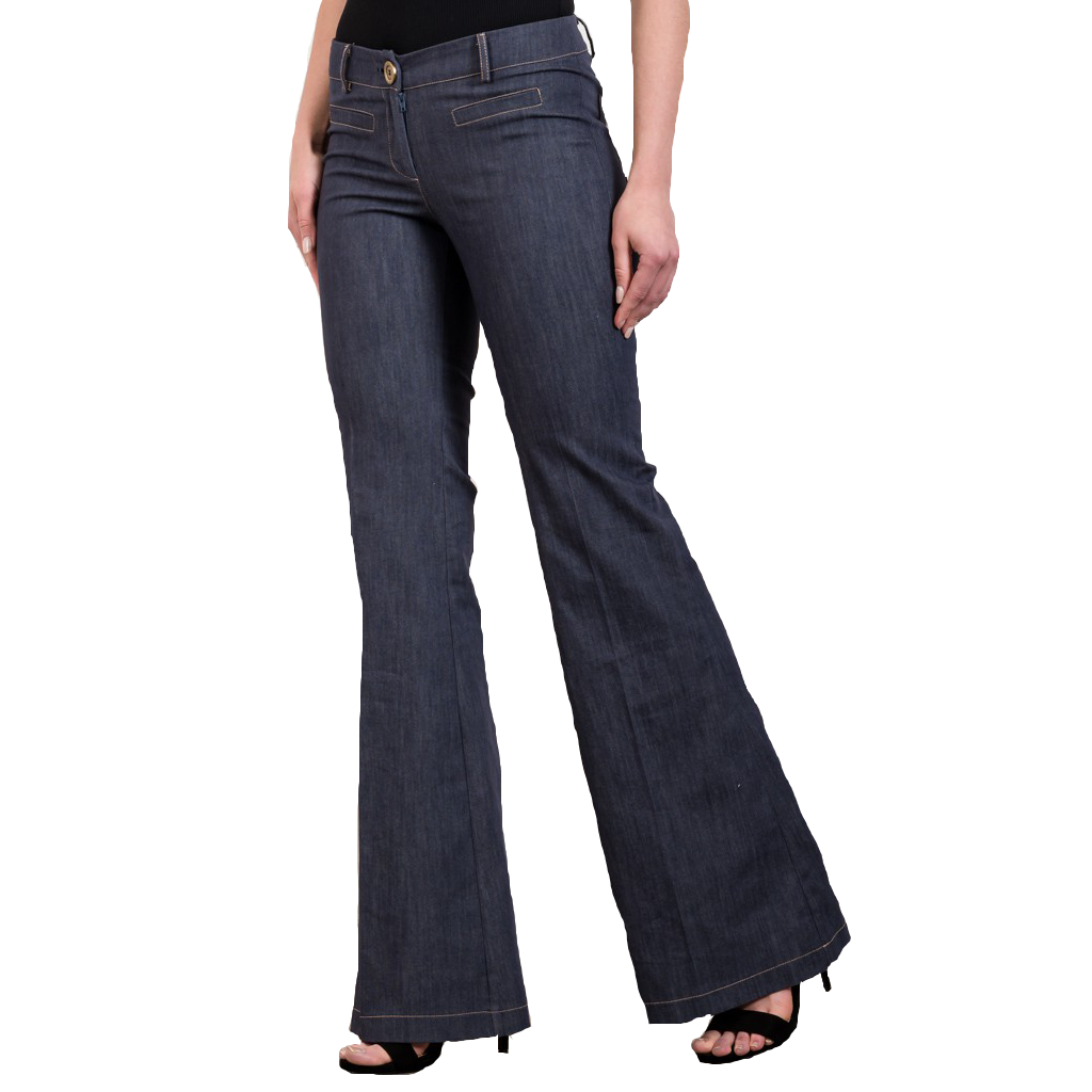 High waisted jean-like bell bottoms