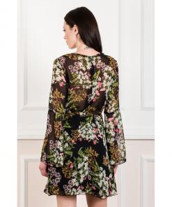 Mini εμπριμέ φόρεμα από μουσελίνα