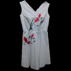 Λευκό casual φόρεμα με χιαστί πλάτη
