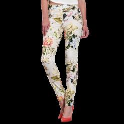 Γυναικείο εφαρμοστό παντελόνι floral