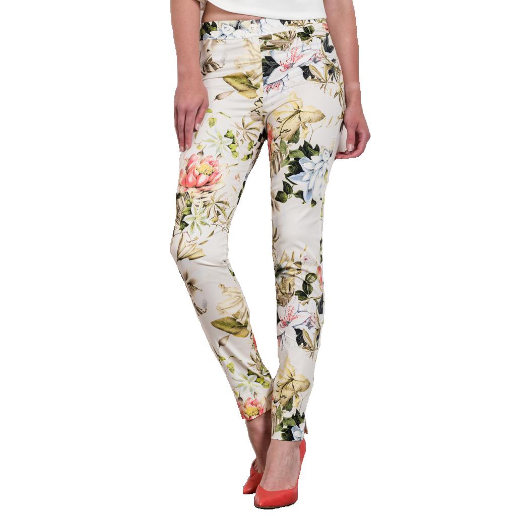 c88df071bdec Γυναικείο εφαρμοστό παντελόνι floral