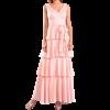 Maxi φόρεμα με βολάν και ζώνη