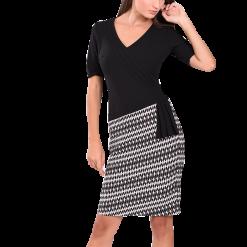Mini φόρεμα εφαρμοστό με κοντό μανίκι