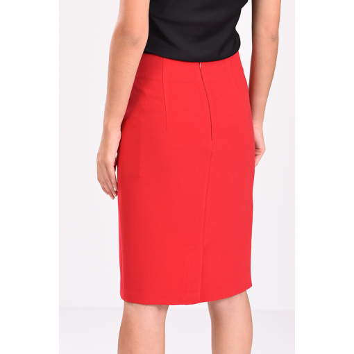 Midi tall skirt with front stitches