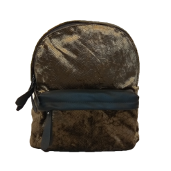 Women's backpack with leather details