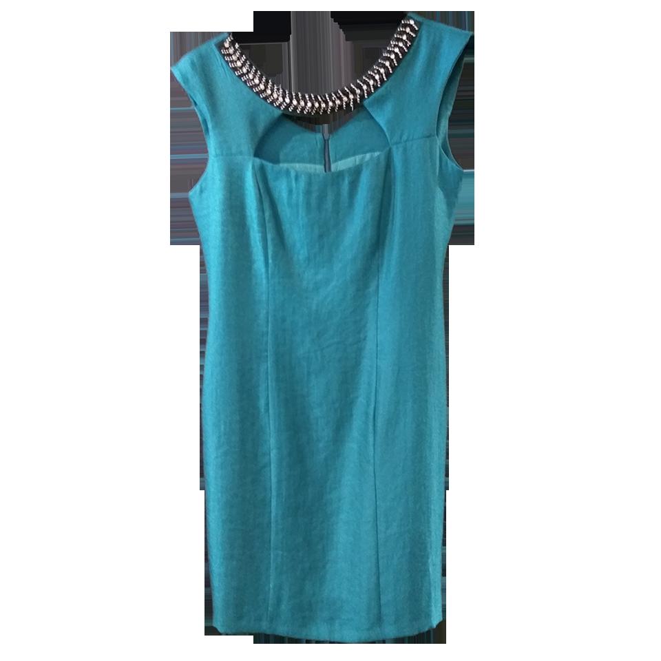 Mini φόρεμα με strass στον λαιμό