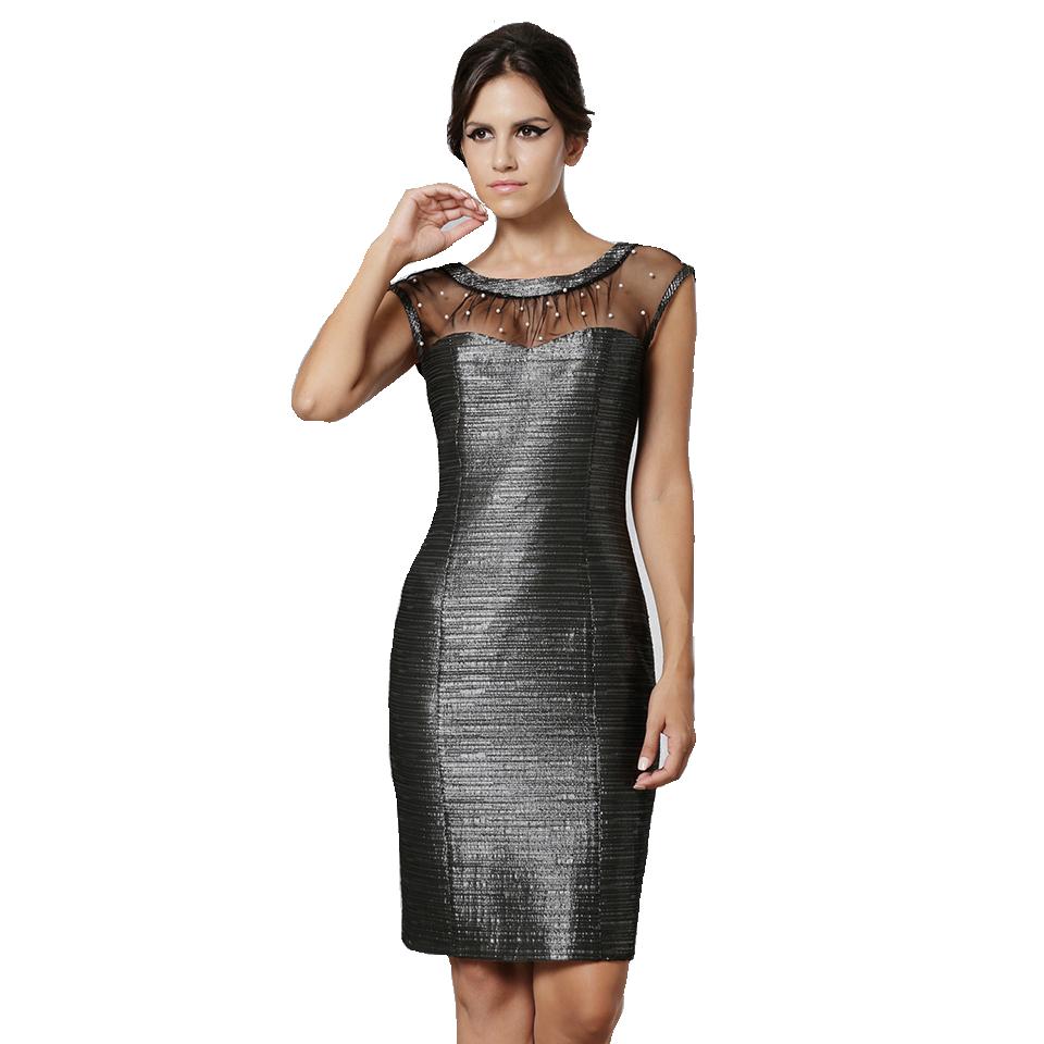 Short lourex dress with chest slide