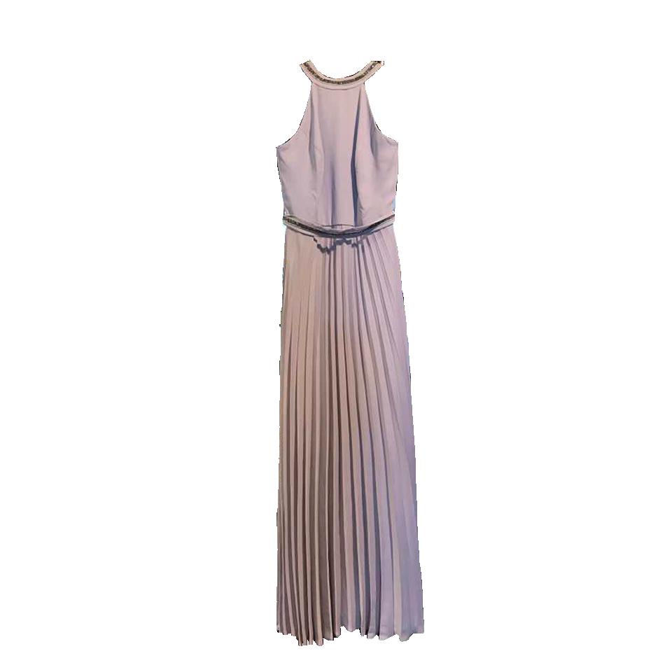 Maxi φόρεμα πλισέ με strass στο λαιμό  7118b74dfbc