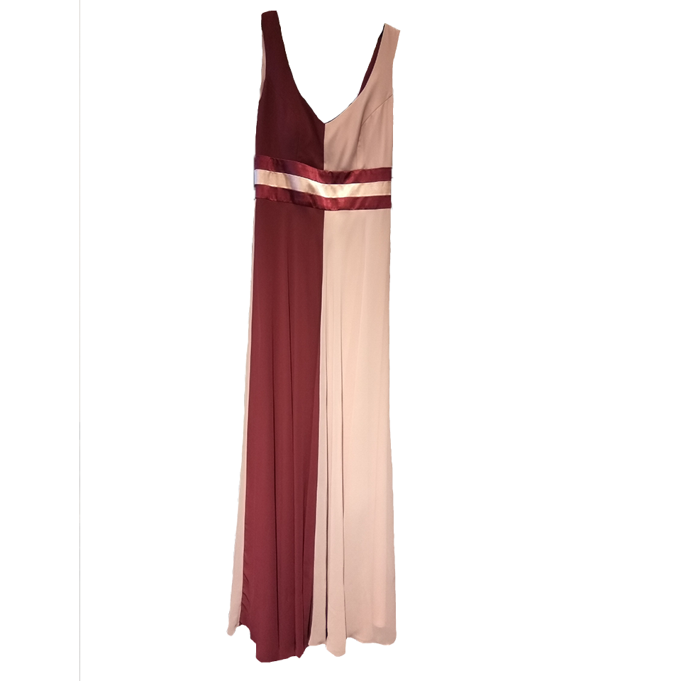 Dress maxi two color on comfortable line