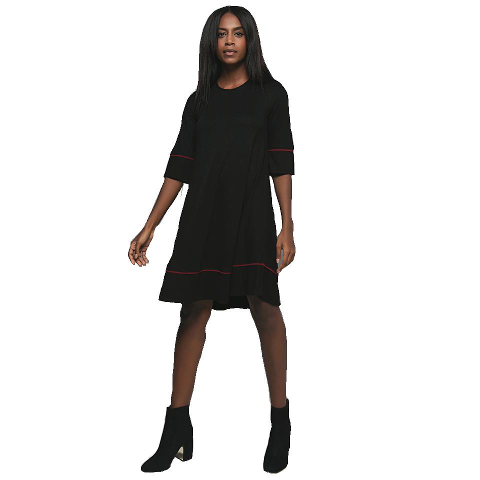 Κοντό φόρεμα με μανίκια 3/4 ριχτό