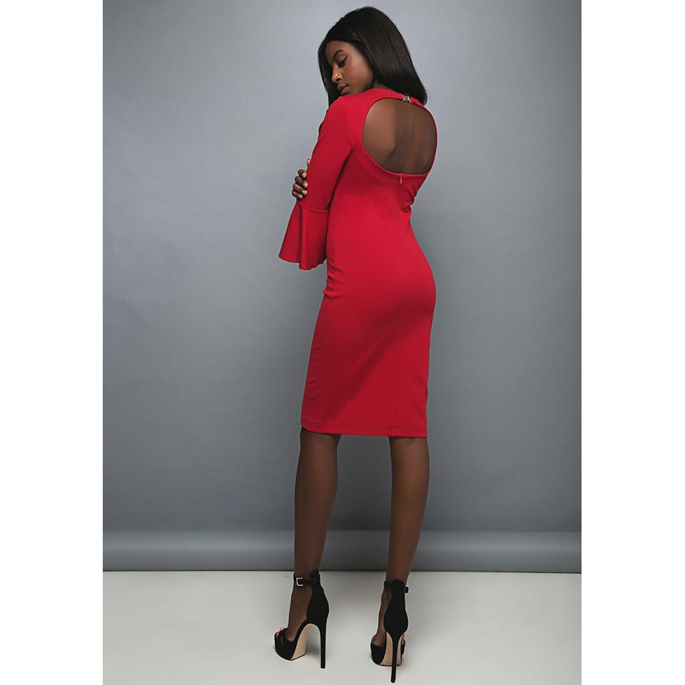 Κοντό φόρεμα με άνοιγμα στην πλάτη