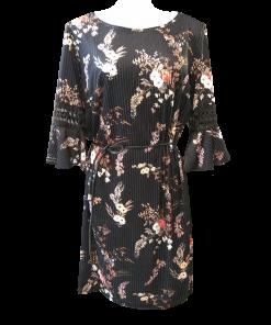 Casual κοντό floral φόρεμα με ζωνάκι