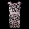 Κοντό μαύρο φόρεμα με γκρι αποχρώσεις