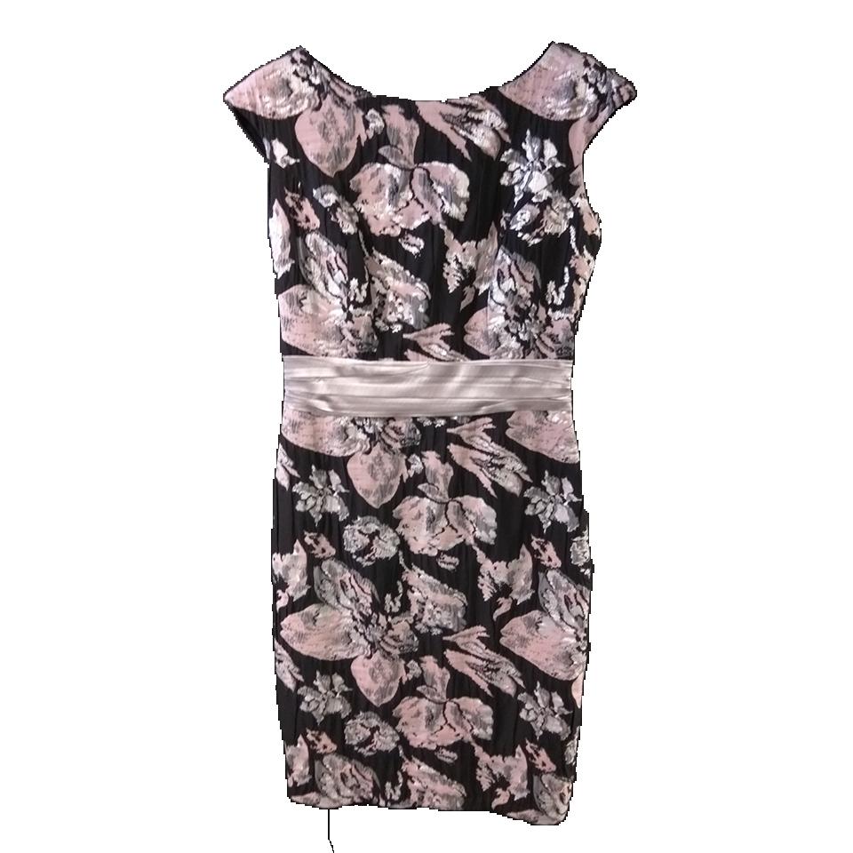 Short black dress in gray shades