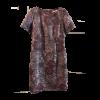 Κοντό φόρεμα μπροκάρ με κοντά μανίκια