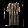 Dress with round neckline with pattern