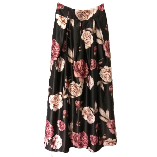 Maxi floral skirt with cufflinks