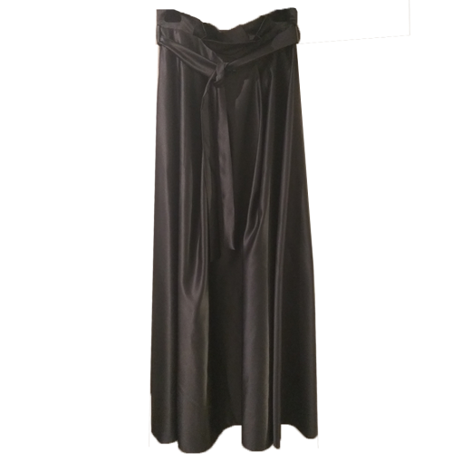 Maxi μονόχρωμη φούστα με ζώνη