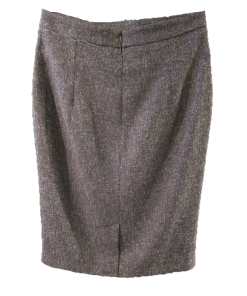 Pencil φούστα με δέρμα και διακοσμητικά κουμπιά