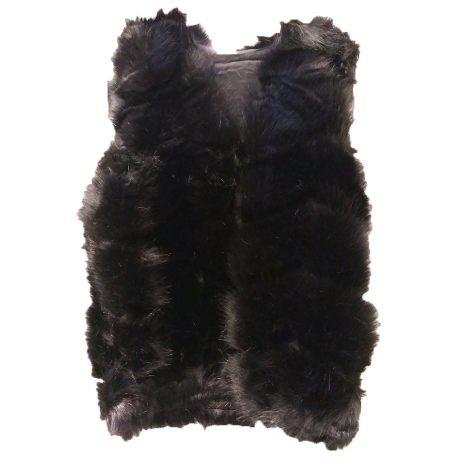 Women's sleeveless fur casual