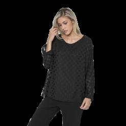 Γυναικεία μπλούζα διπλή με απαλό πουά