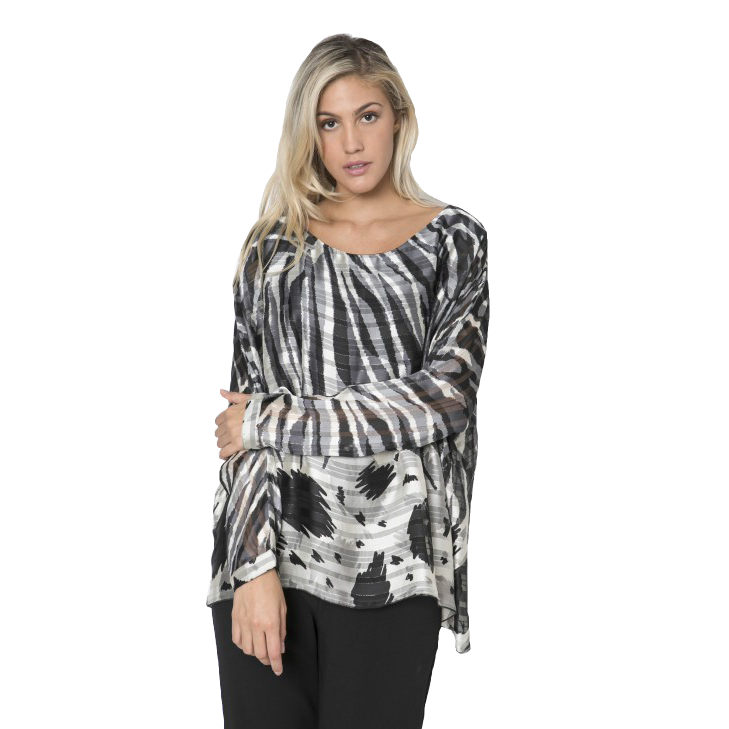 Women's blouse with double fabric