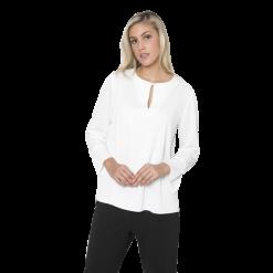 Γυναικεία μπλούζα μονόχρωμη με άνοιγμα