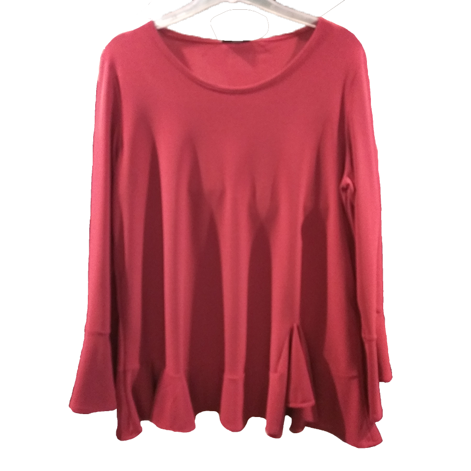 Blouse with ruffles and sleeves