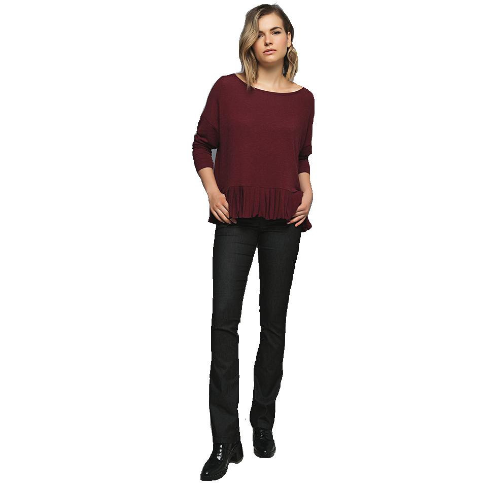 Γυναικεία μπλούζα με στρογγυλή λαιμόκοψη