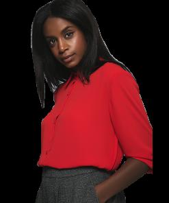 Γυναικείο πουκάμισο με πλισέ πλάτη