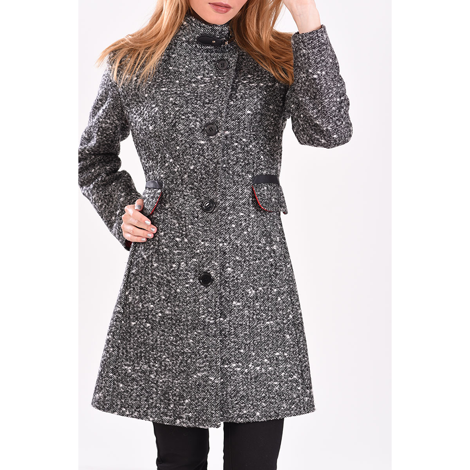 Γυναικείο παλτό με κουμπιά μπροστά
