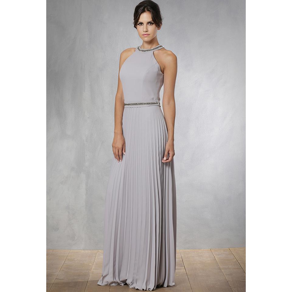 6981e953815 Maxi φόρεμα πλισέ με strass στο λαιμό | Primadonna.com.gr