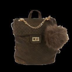 Τσάντα backpack με διακοσμητική αλυσίδα