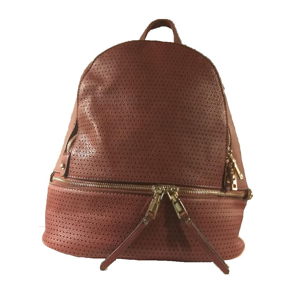 Γυναικείο backpack με χρυσά φερμουάρ