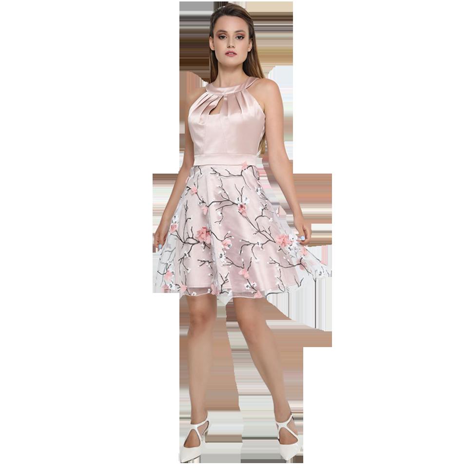 Κοντό βραδινό φόρεμα με φούστα από τούλι  954aa6d2ae2