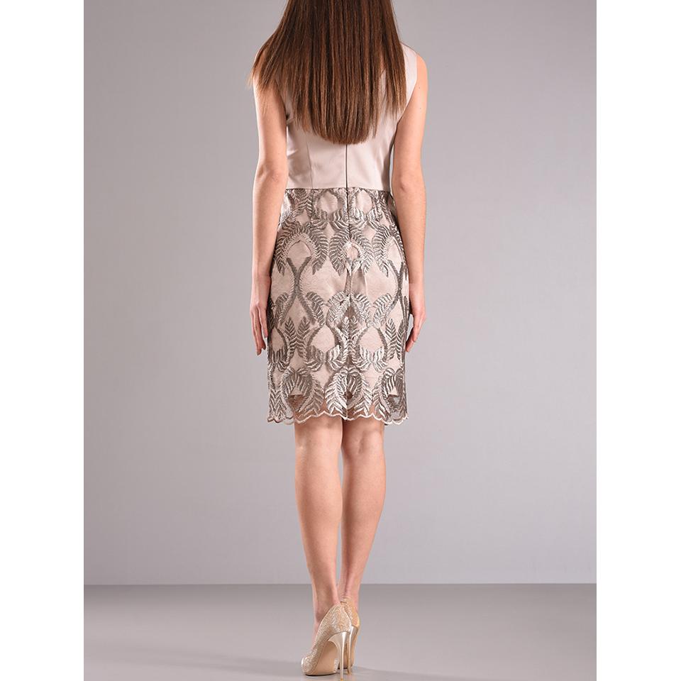 21273bb41b81 Κοντό βραδινό φόρεμα με πλατιές τιράντες