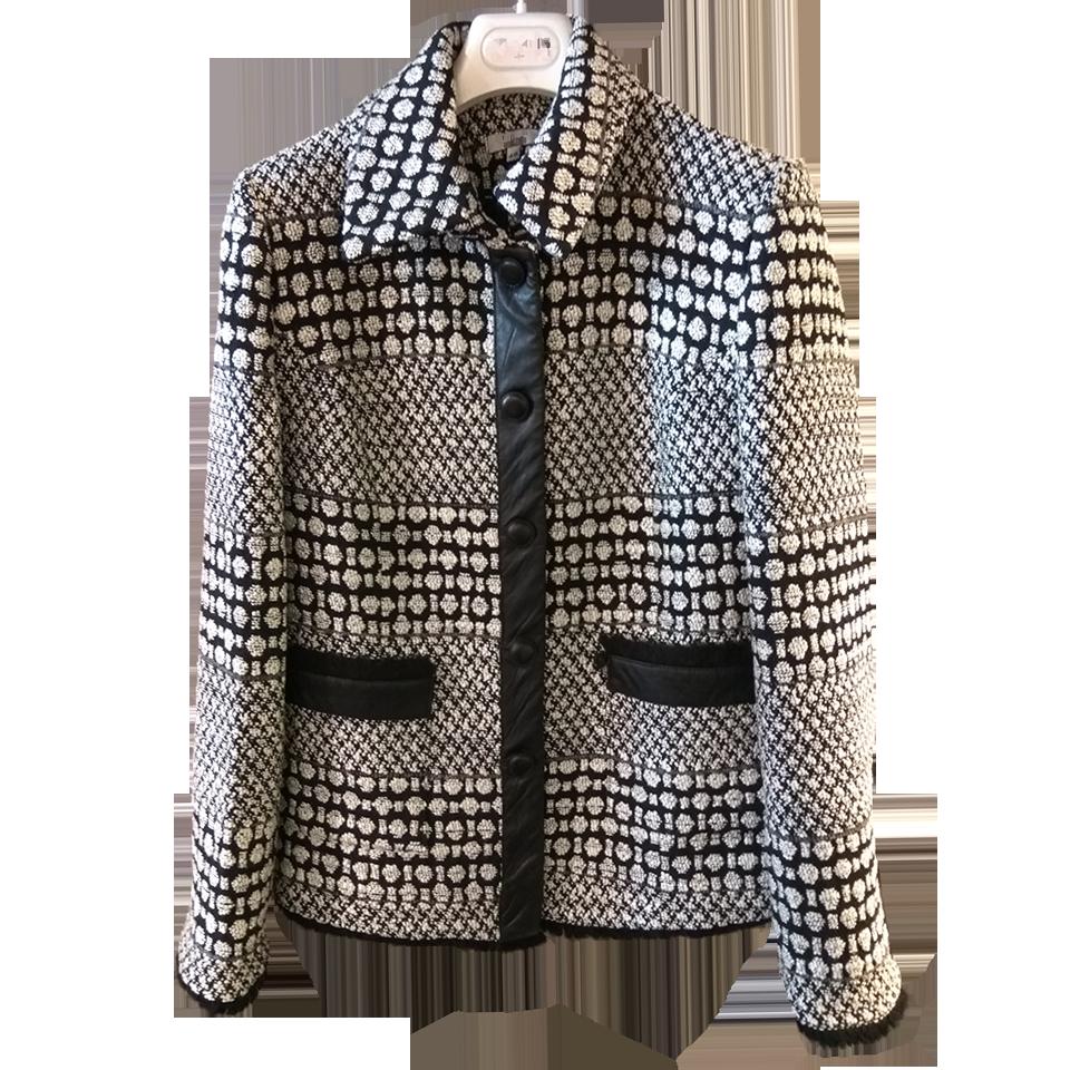 Γυναικείο σακάκι με λεπτομέρειες δερματίνη  6a6fb203c0f