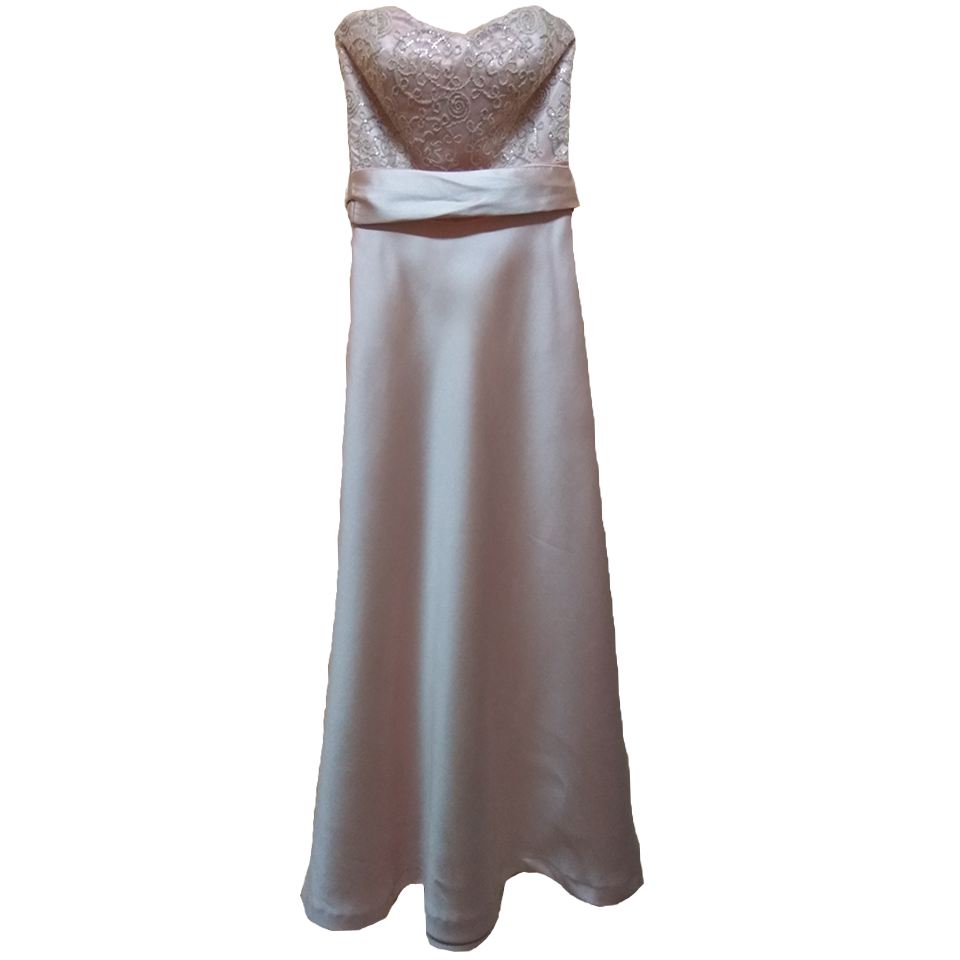 Maxi φόρεμα strapless με πλατιά ζώνη