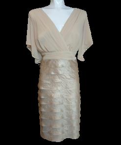 Short dress with bridal croissants