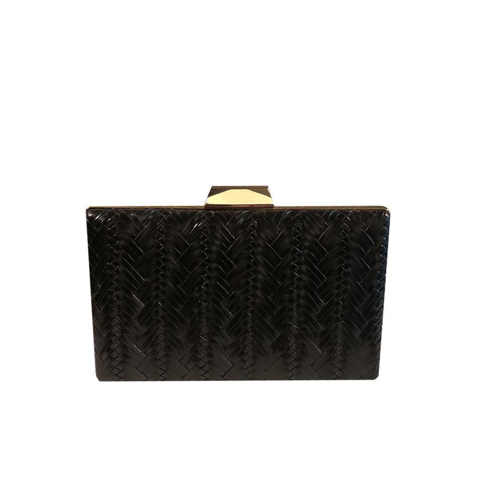Gold embossed female clutch bag