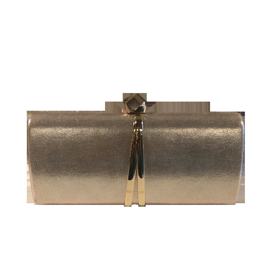 Γυναικείο clutch bag στενόμακρο χρυσό