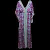 Maxi φόρεμα καφτάνι με κάθετη δαντέλα