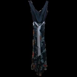 Maxi ασύμμετρο φόρεμα με floral φούστα
