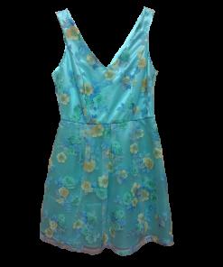 Αμάνικο floral φόρεμα σε Α γραμμή